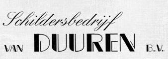 Schildersbedrijf van Duuren B.V.